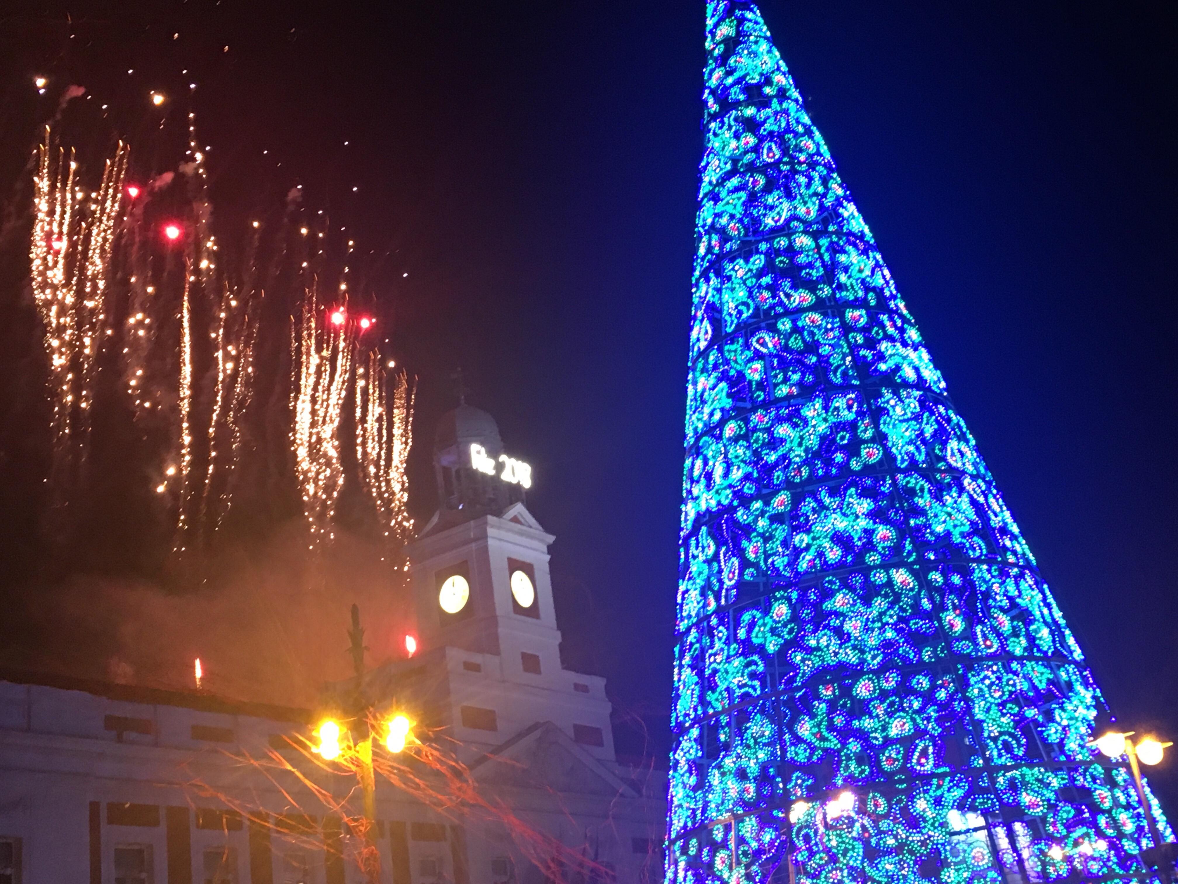 「プエルタ・デル・ソル広場」の新年